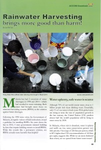 The Green Book of The Associated Chinese Chambers of Commerce and Industry of Malaysia (ACCCIM) Malaysia Voda Rainwater Harvesting System News