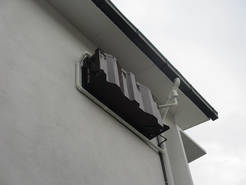 wall mounted rainwater harvesting system