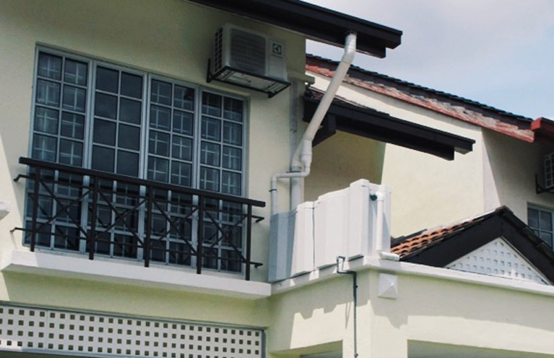 Malaysia Alam Damai Residential Home Successfully Sets Up Rain Water Tank Despite Space Constraints